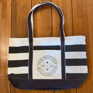 Show Me Your Mumu | Canvas Stripe Bag